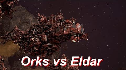 Orks vs Eldar! Rank 51, Heroic Difficulty, 1500 Points - Battlefleet Gothic Armada
