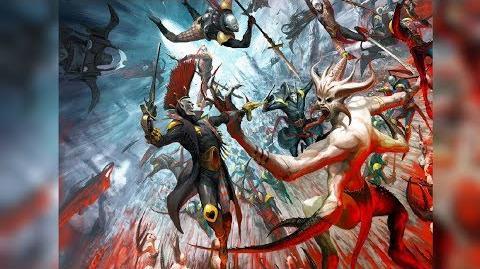 Chaos Daemons vs Dark Eldar! - Dawn Of War - Soulstorm - Ultimate Apocalypse