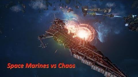 Space Marines vs Chaos! Rank 121, Heroic Difficulty, 1500 Points - Battlefleet Gothic Armada