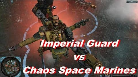 Imperial Guard vs Chaos Space Marines - Warhammer 40k Dawn Of War 2 Retribution - SupaEpicFun Mod