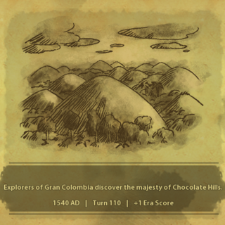 A civilization discovers the Chocolate Hills