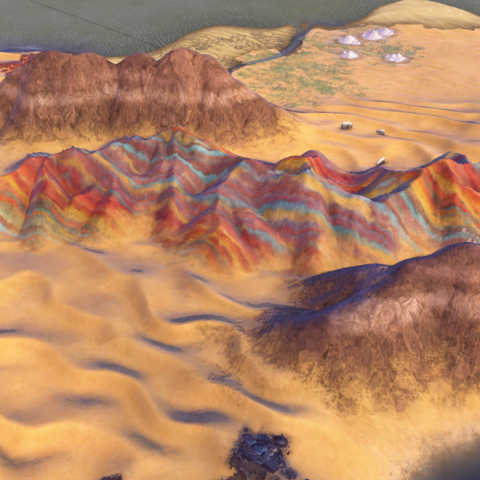 Zhangye Danxia, as seen in-game
