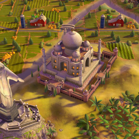 The Taj Mahal, as seen in-game