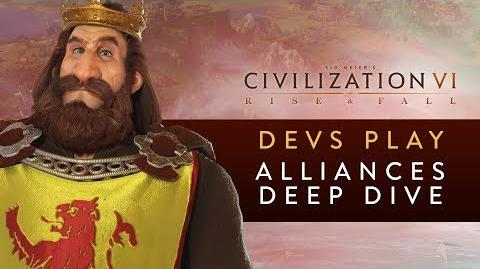 Civilization VI- Rise and Fall - Devs Play Scotland (Alliances Deep Dive)
