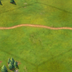 A Classical-era road, as seen in-game