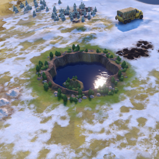 Crater Lake, as seen in-game