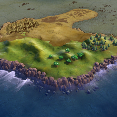 Some cliffs, as seen in-game