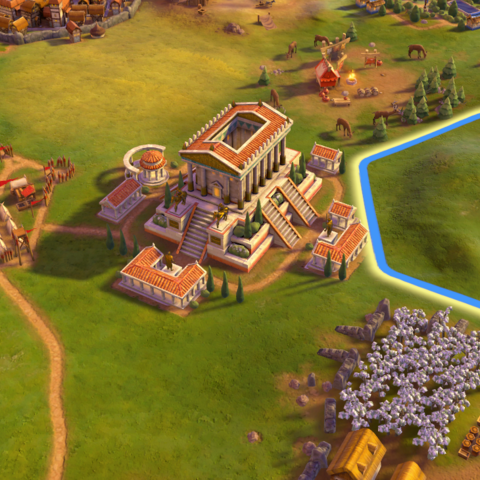 The Temple of Artemis, as seen in-game