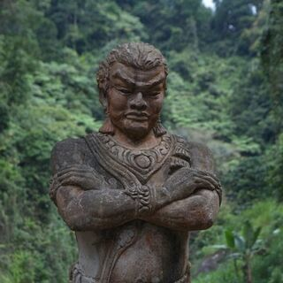 Statue of Gajah Mada at Madakaripura Waterfall