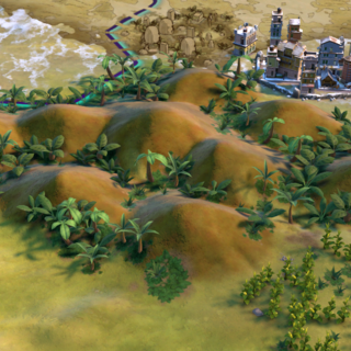 The Chocolate Hills, as seen in-game