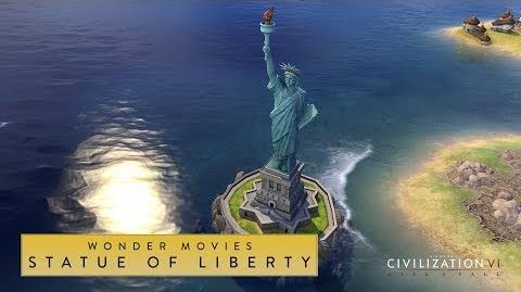 Civilization VI Rise and Fall - Statue of Liberty (Wonder Movies)