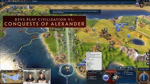 CIVILIZATION VI - Devs Play Conquests of Alexander (New Macedon Scenario)