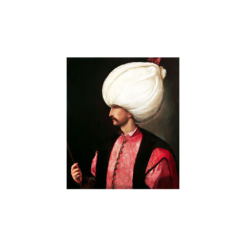 Suleiman I, attributed to school of Titian