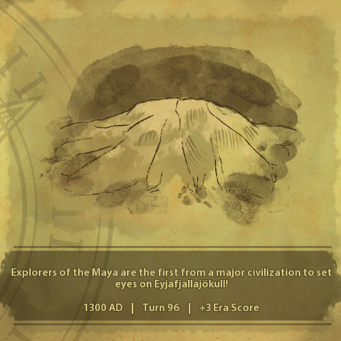 A civilization discovers Eyjafjallajökull