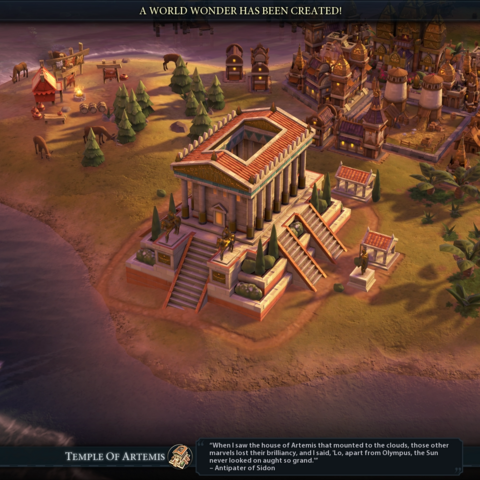 Temple of Artemis completed