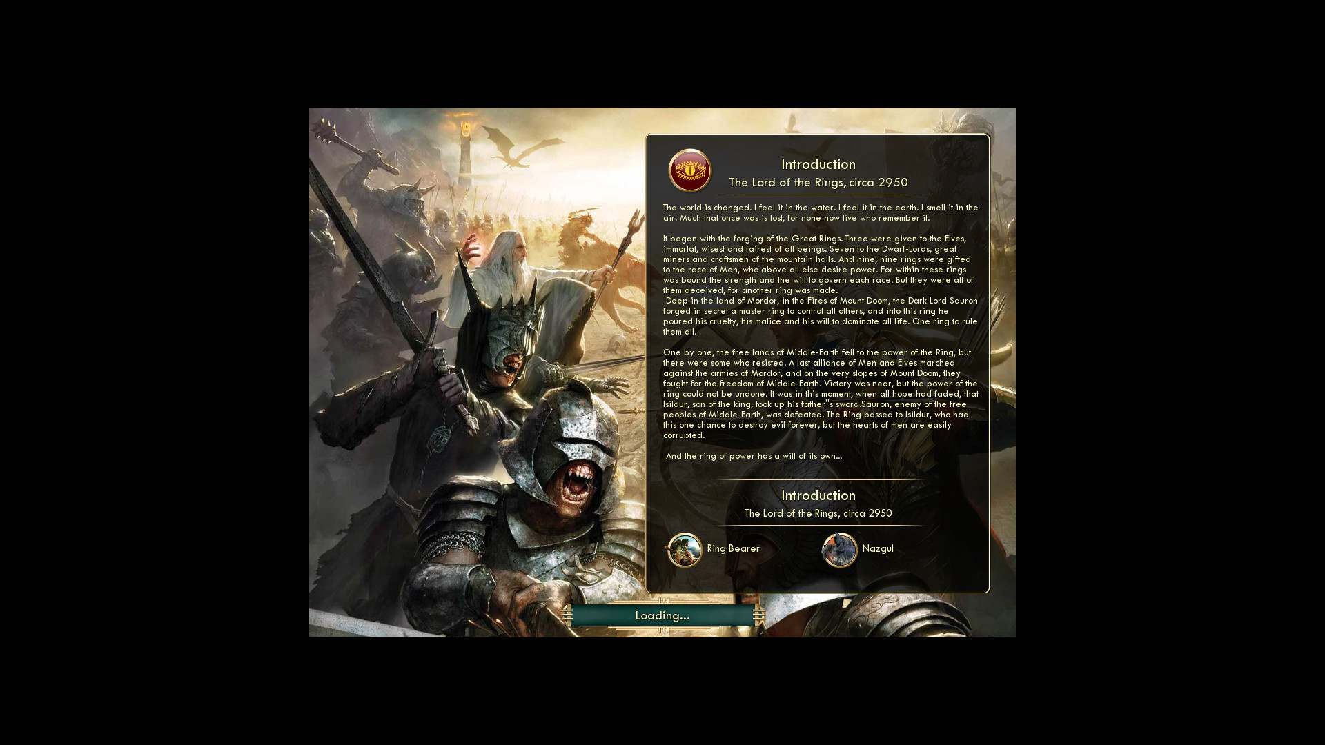 Lord of the rings civ5 civilization wiki fandom powered by wikia intro sciox Choice Image