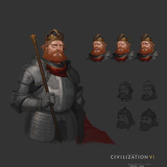 Concept art of Frederick Barbarossa by Sang Han