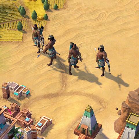 The Pítati Archer, Nubia's unique unit
