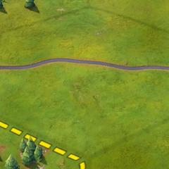 A Modern-era road, as seen in-game