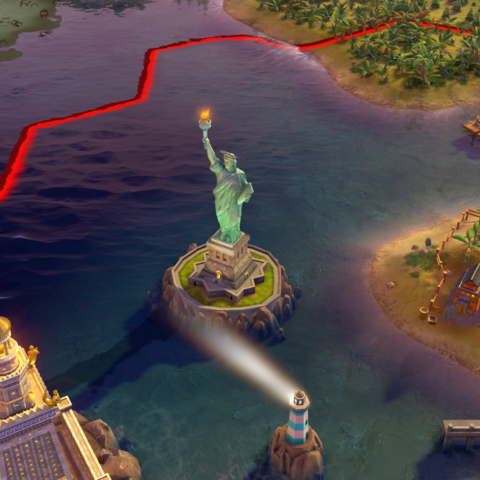 The Statue of Liberty, as seen in-game