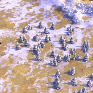 Woods on a flat Tundra tile, as seen in-game