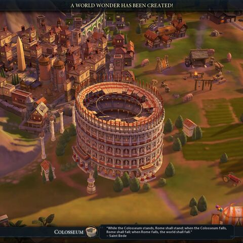 Colosseum completed