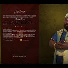 Mansa Musa on the loading screen