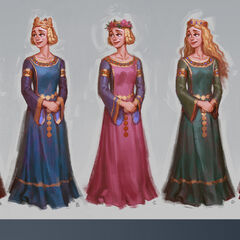 Colored concept art of Eleanor of Aquitaine