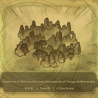 A civilization discovers Tsingy de Bemaraha