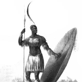 A European artist's drawing of Shaka (1824)