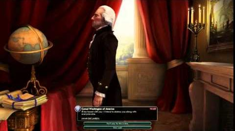 Civilization V Leader Washington of America Declares War