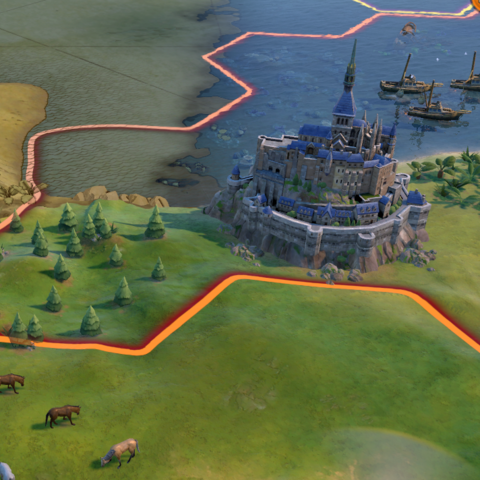 Mont St. Michel in-game