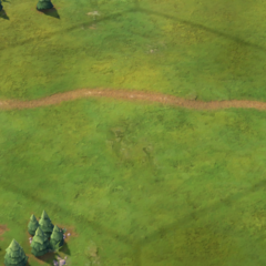 An Ancient-era road, as seen in-game