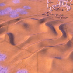 Hills on a Desert tile, as seen in-game
