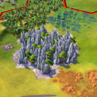 Tsingy de Bemaraha, as seen in-game
