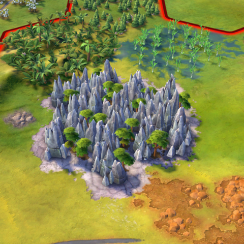 Tsingy de Bemaraha, as seen in-game