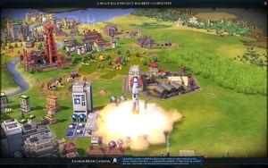 Launch Moon Landing screenshot (Civ6)