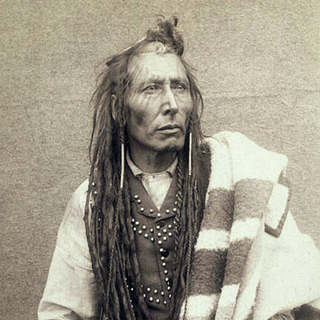 An 1885 photograph of Poundmaker from the National Archives of Canada (which appears to have inspired his in-game model)