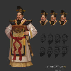 Concept art of Qin Shi Huang by Sang Han