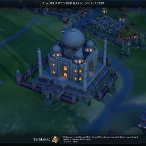 The Taj Mahal completed