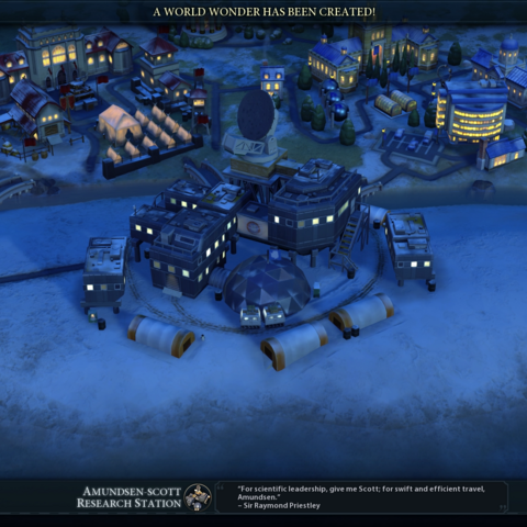 The Amundsen-Scott Research Station completed