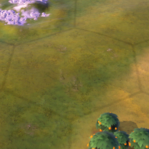 An empty grassland tile, as seen in-game