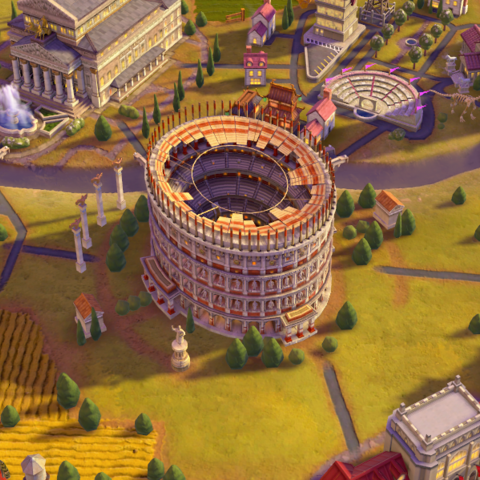 The Colosseum, as seen in-game