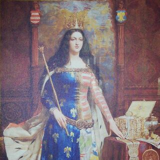 A portrait of Jadwiga (which appears to have inspired her in-game model)