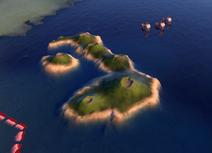 Natural Wonder Galápagos Islands closeup (Civ6)