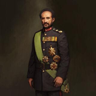 Concept art of Haile Selassie