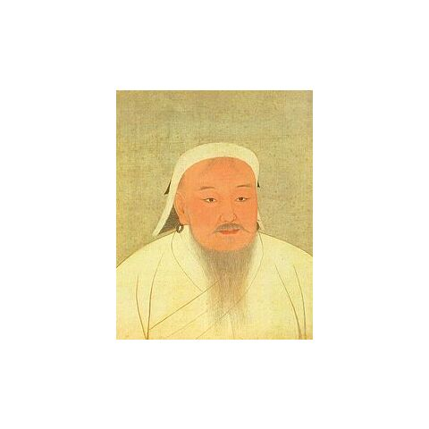 Chinese picture of Genghis Khan from a book of Yuan emperors