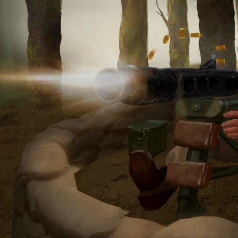 Machine Gun seen in the Domination Victory movie