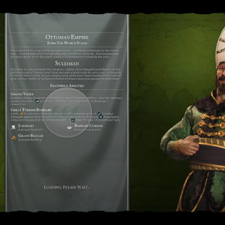 Suleiman on the loading screen