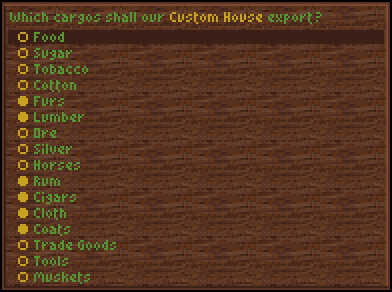 Custom house interface (Col)